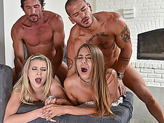 Lesbian Adventures Turn Into Family Orgy