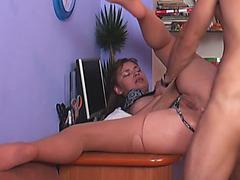 Russian Babe Saskia Lorensen Rough Anal Desk