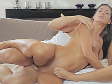 Cute mom fucked hard in wild threesome