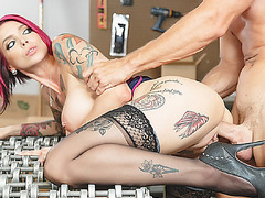 Johny cock pounded and railed Annas wet pussy