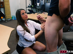 I fucked her hard and she loved it doggystyle on my desk