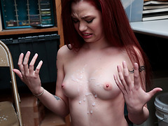 Teen Cassidy Micheals cooperates and fucks her way free