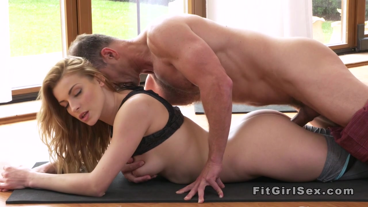 Yoga Coach Bangs Blonde From Behind-8747