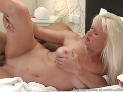 Beautiful blonde MILF from Milfsexdating Net fucked in her wet pussy