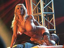 busty Milf lapdance on stage