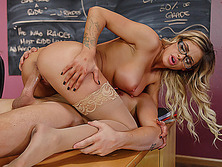 Busty prof Jessa Rhodes fucked in the classroom