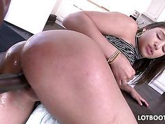 Big booty Abella Danger loves black dick