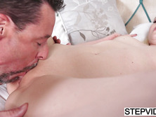 Horny stepdaughter Sophie Sativa gets banged