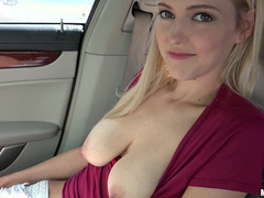 Teen Mila Evans meets a stranger and fucked him inside his car