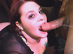 Hot chicks with tattoos get pissed in massive hot orgy