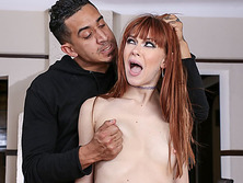 Redhead slut Alex Nova deepthroat and anal punishment fun