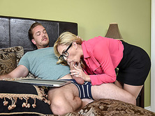 Horny Kyle Masons cock suck by her step mom Cherie Deville