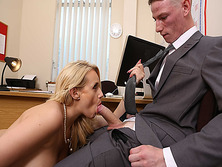 Intern Felix Jones big cock suck by Angel Wicky