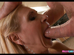 Mature Lady wants a Big cock in the kitchen