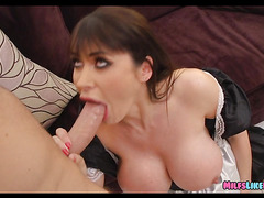 cougar Maid with Huge Tits