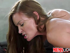 A horny Teen and a MILF goes wildly hot in a lesbian sex affair