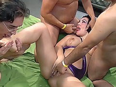 party gangbang with busty babe Elina Flower