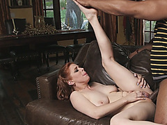 Redhead Chick Penny Pax Takes Huge Black Schlong