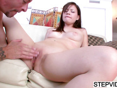 Alison Rey gets teached by stepdad