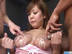 Dirty porn play on cam with bustyHiyoko Morinaga