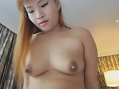 Ultimate asian slut enjoys a rock hard pounding with her delicate pussy