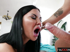 Hard Cocks Between Big Tits of Oral Loving Brunette MILFs Jasmine Jae, Mercedes Carrera, Marta La Croft