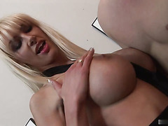 Cindy Behr sports her long blonde hair straight down, and so does her