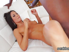 Pornstar doll gets her butt hole shagged with erected tool