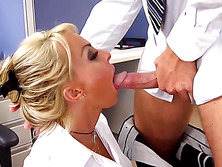 Holly Halston enjoys herself with his cock