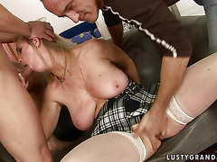 Granny needs two man for herself