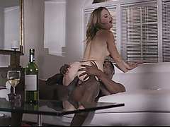 Hot blond milf Mona Wales jizzed on butt