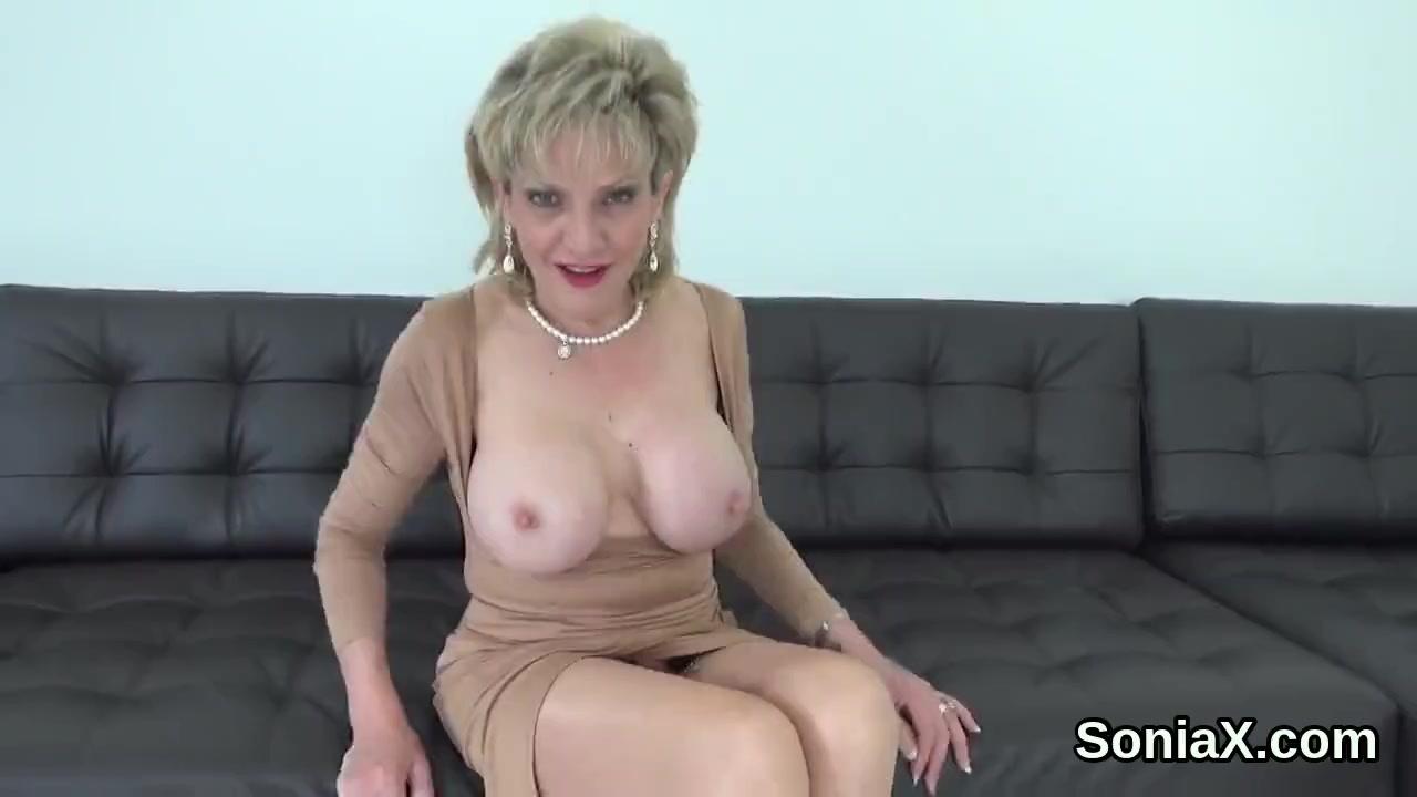 british mature gill ellis flaunts her massive breasts