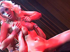 busty babe lapdance on public stage