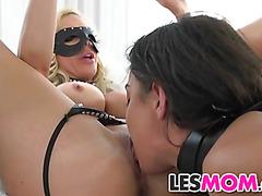 Mom Nina Elle face fucks Amara Romani