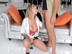 Ramon Nomar receives a steaming blowjob from Karma RX