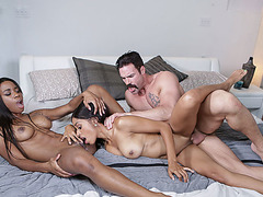 Ebony babes enjoys fucking with hot stepdad