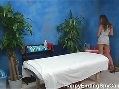 Our hidden spy cameras caught Allie the massage therapist giving more than a massage!