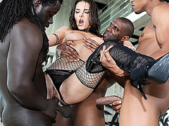 Russian Henessy ready for a cock by black dick