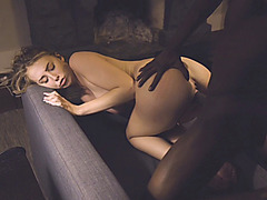 Blonde babe fucked n creampied by BBC
