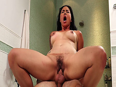 Dana Vespoli ride her milf pussy on top of stepsons cock