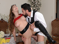 Lena Paul is getting her nipples suck while fucking