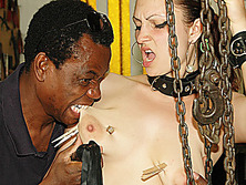 busty milfs first interracial bdsm lesson