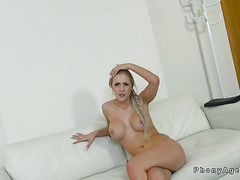 Huge tits babe bangs fake agent