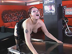 Busty mature bitch excited to taste piss and sticky semen