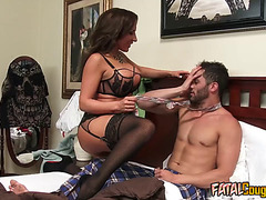 Fatal Cougar Bitch Fucks Hot Stud