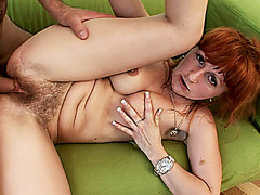 hairy bush mom gets rough fucked