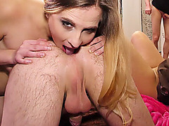 rimjob and anal fist at our gangbang party