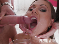 Premium Bukkake - Tina Kay swallows 68 big loads and got DP fucked in the ass