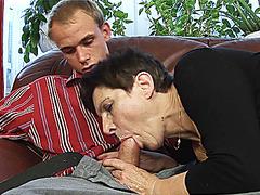 incredible deepthroat with hairy milf