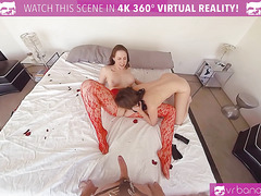 VRBangers.com Sexy Mom Teach Her Young Babe How to Please